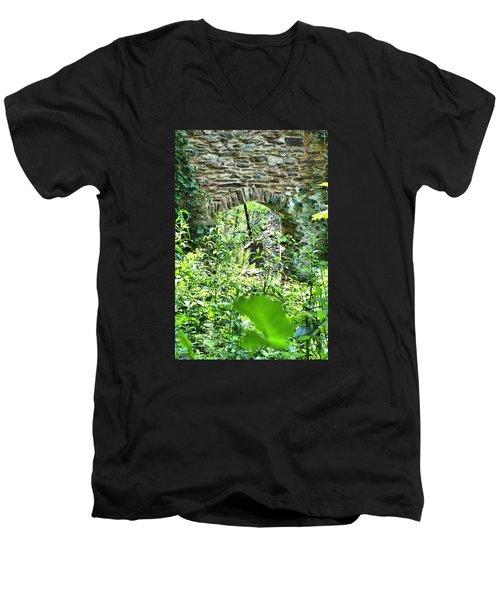 Wilderness Portal Men's V-Neck T-Shirt by James Potts
