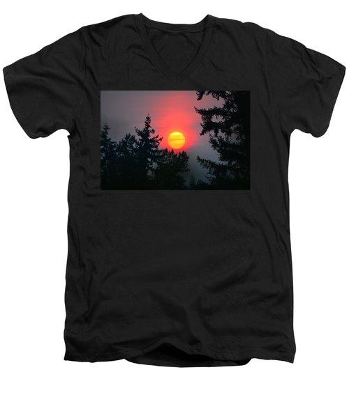 Wildfire Sunset Men's V-Neck T-Shirt