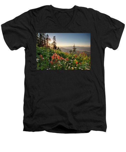 Wildflower View Men's V-Neck T-Shirt