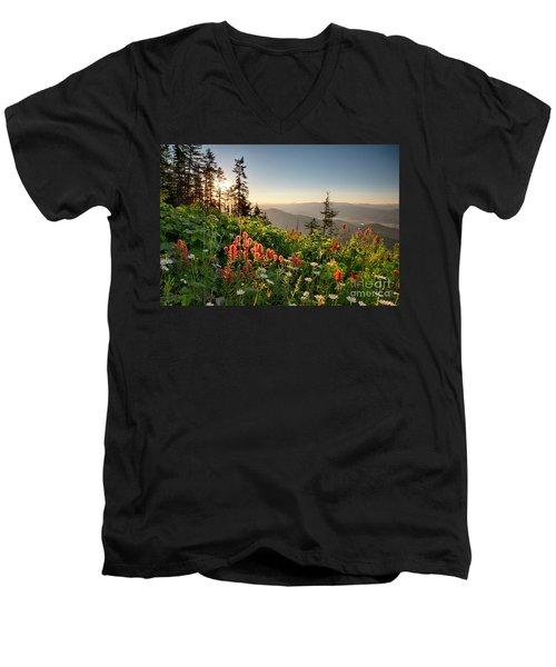 Wildflower View Men's V-Neck T-Shirt