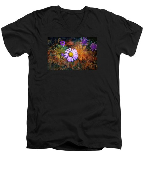 Wildflowers Men's V-Neck T-Shirt by Ed Hall