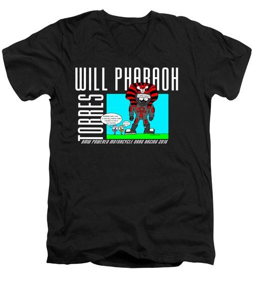 Will Pharaoh Torres 002 Men's V-Neck T-Shirt