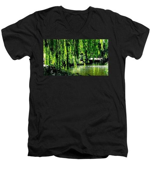 Willow Green Men's V-Neck T-Shirt