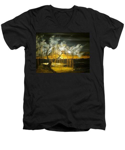 Willow On The Shore Men's V-Neck T-Shirt