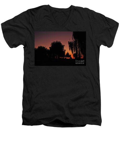 Willow Tree Silhouettes Men's V-Neck T-Shirt