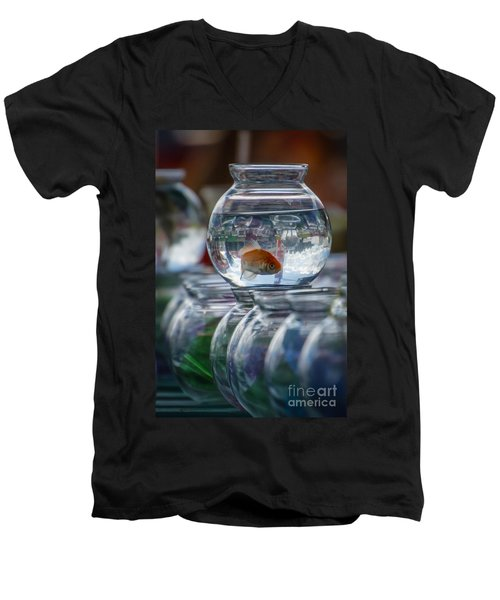 Win A Goldfish Men's V-Neck T-Shirt