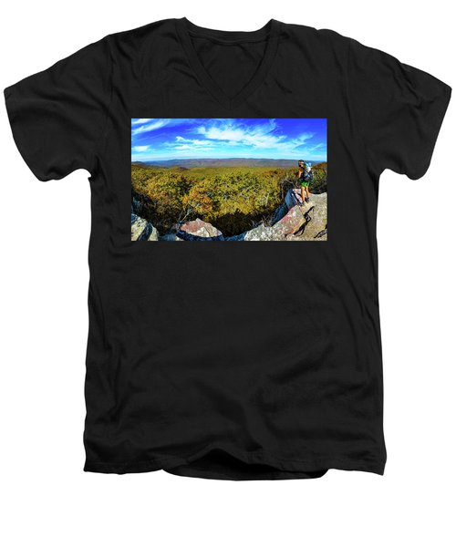 Wind Rock Panorama Men's V-Neck T-Shirt