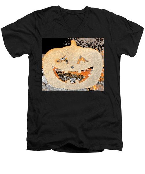 Window Pumpkin #3 Men's V-Neck T-Shirt