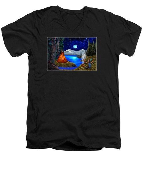 Window To Heaven Men's V-Neck T-Shirt by Glenn Holbrook