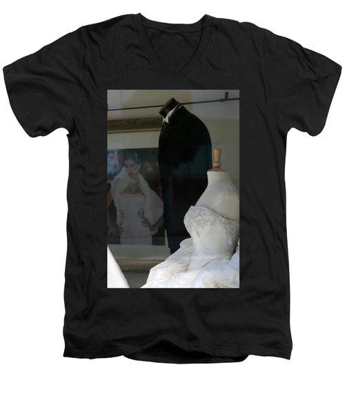 Window Wedding Attire Men's V-Neck T-Shirt