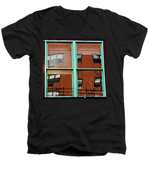 Windows In The Heights Men's V-Neck T-Shirt by Sarah Loft