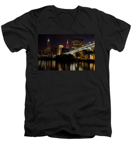 Wine And Gold In Cleveland Men's V-Neck T-Shirt