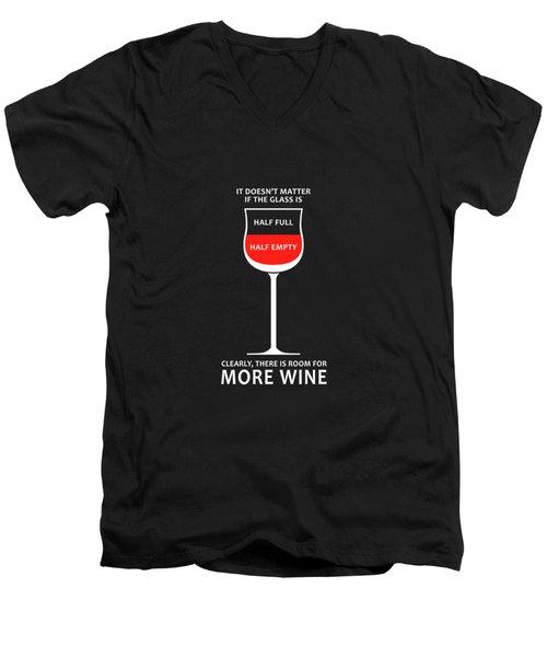 Wine Glasses 1 Men's V-Neck T-Shirt