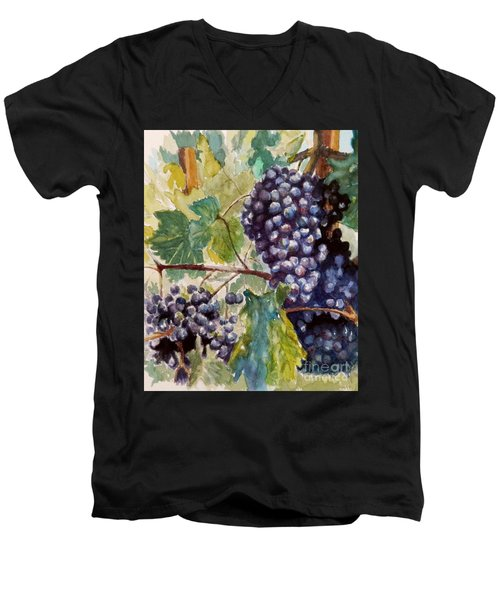 Wine Grapes Men's V-Neck T-Shirt by William Reed