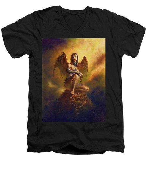 Winged Vamp Men's V-Neck T-Shirt