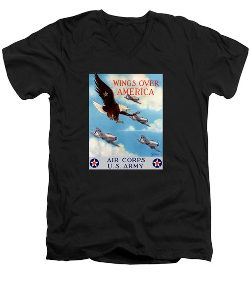 Wings Over America - Air Corps U.s. Army Men's V-Neck T-Shirt