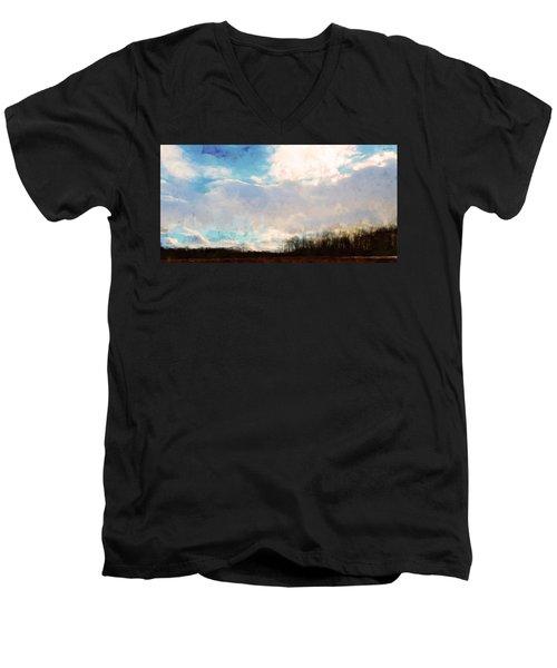 Winter Afternoon Sky Men's V-Neck T-Shirt