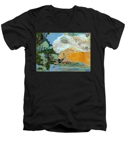 Winter Fantasy Men's V-Neck T-Shirt by Nancy Kane Chapman