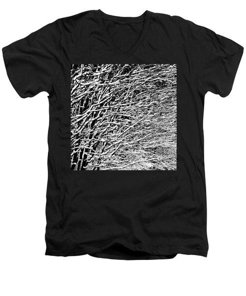Men's V-Neck T-Shirt featuring the photograph Winter by Gert Lavsen