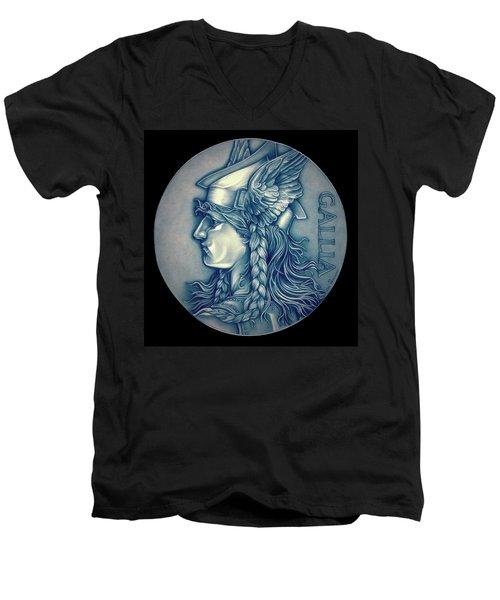 Winter Goddess Of Gaul Men's V-Neck T-Shirt by Fred Larucci