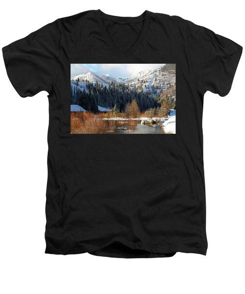 Winter I Big Cottonwood Canyon  Men's V-Neck T-Shirt