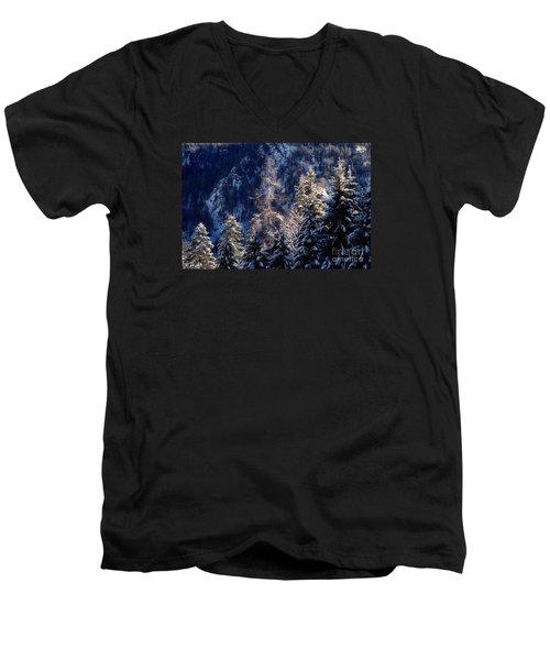winter in Bavaria 9 Men's V-Neck T-Shirt by Rudi Prott