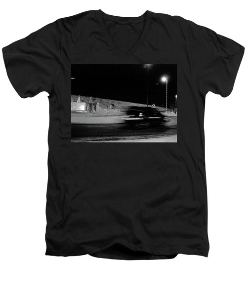 Men's V-Neck T-Shirt featuring the photograph Winter In North Pole by Tara Lynn