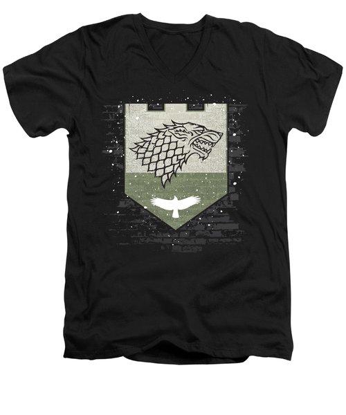 Winter Is Here Stark Banner Men's V-Neck T-Shirt