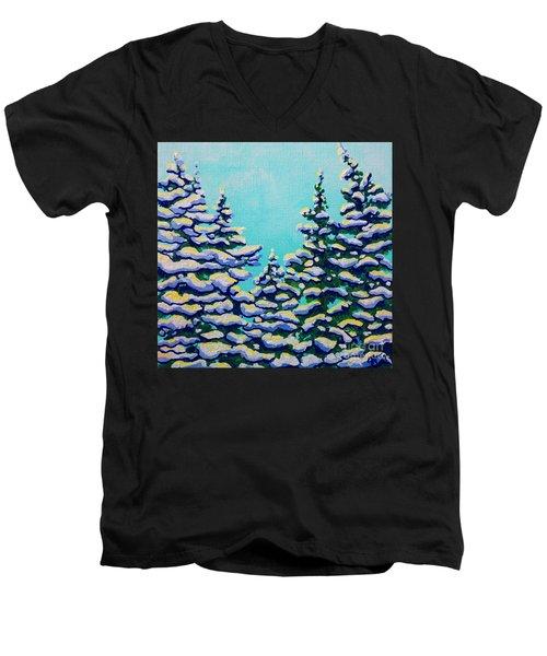 Winter Pines Men's V-Neck T-Shirt