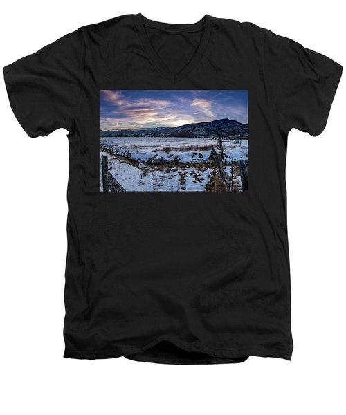 Sunset Range Men's V-Neck T-Shirt