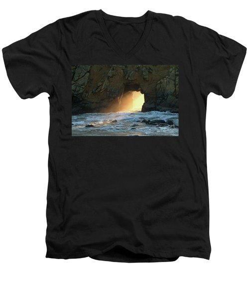 Winter Solstice Sunset In Big Sur Men's V-Neck T-Shirt