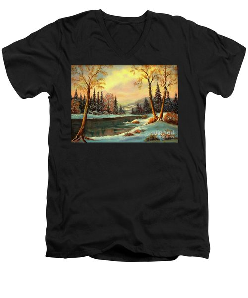 Winter Splendor Men's V-Neck T-Shirt
