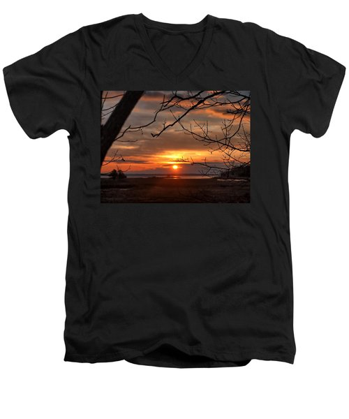 Winter Sunrise  Men's V-Neck T-Shirt