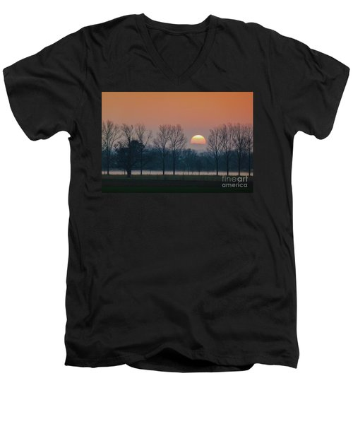 Winter Sunset 1 Men's V-Neck T-Shirt