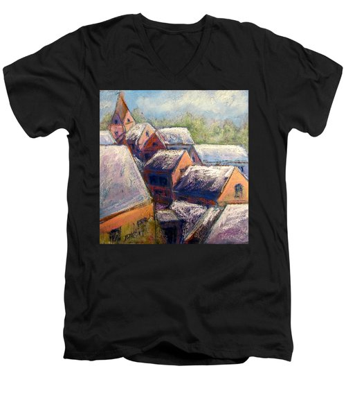 Winter Village Men's V-Neck T-Shirt
