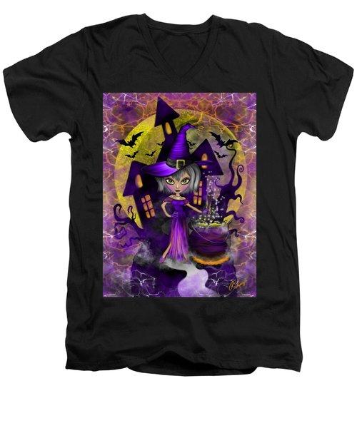 Wisdom Witch Fantasy Art Men's V-Neck T-Shirt