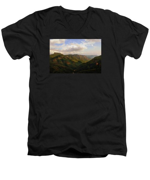 Men's V-Neck T-Shirt featuring the photograph Wiseman's View by Jessica Brawley
