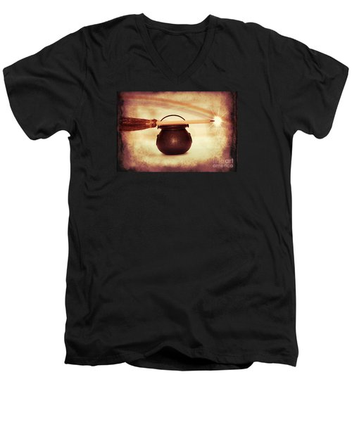 Witchy Men's V-Neck T-Shirt by Linda Matlow