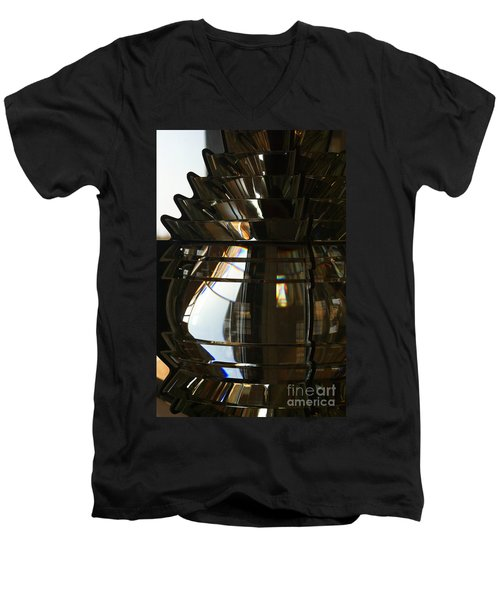Within The Rings Of Lenses And Prisms Men's V-Neck T-Shirt