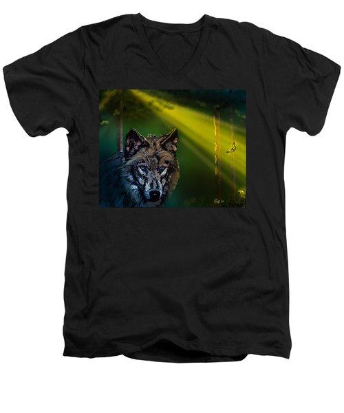 Wolf Of The Dark Wood Men's V-Neck T-Shirt