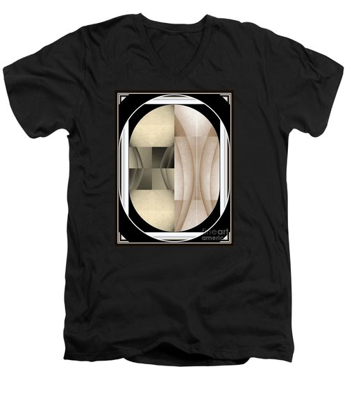 Woman Image Three Men's V-Neck T-Shirt by Jack Dillhunt