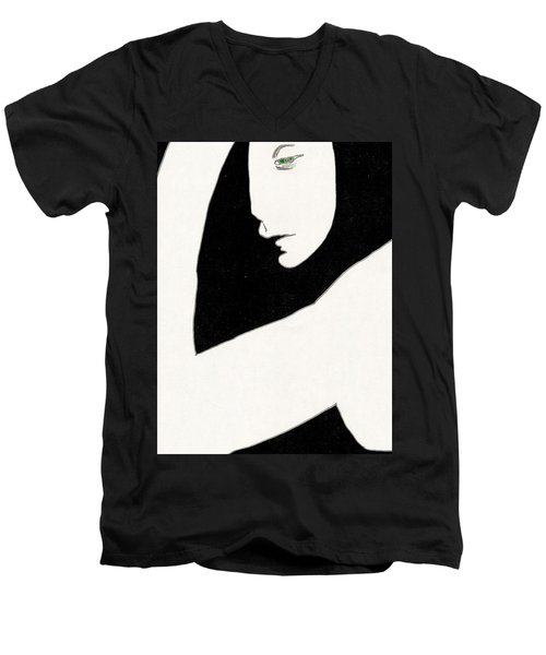 Woman In Shadows Men's V-Neck T-Shirt