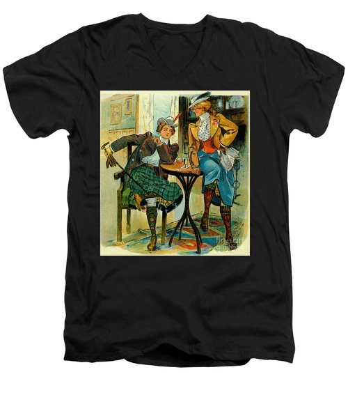 Woman's Club 1899 Men's V-Neck T-Shirt by Padre Art