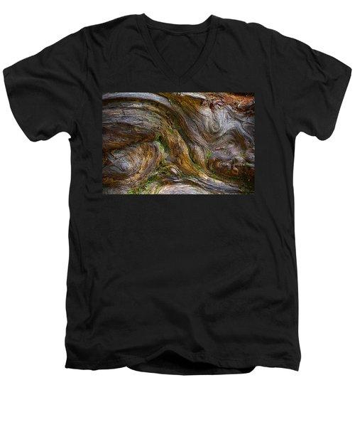 Wood Grain Men's V-Neck T-Shirt