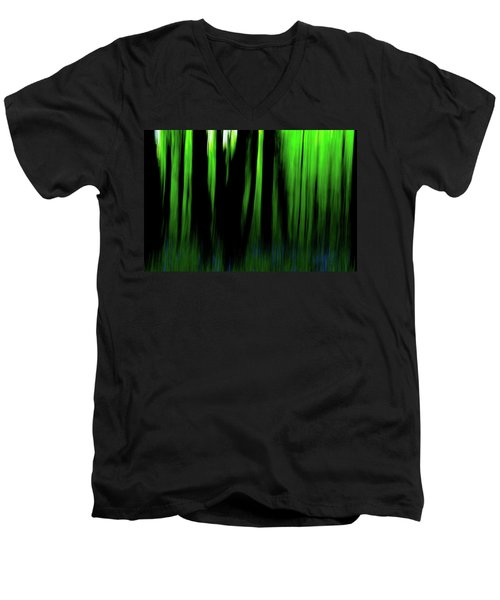 Woodland Abstract Iv Men's V-Neck T-Shirt