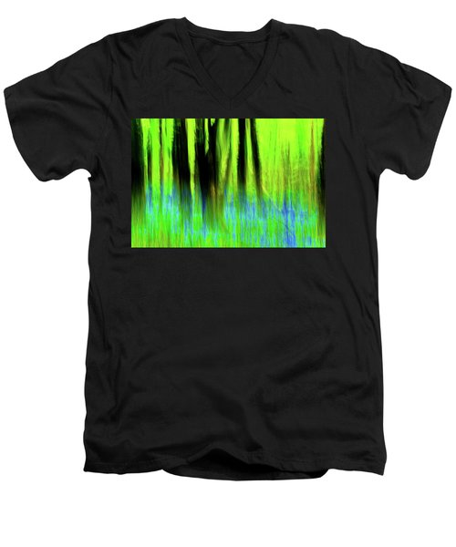 Woodland Abstract Vi Men's V-Neck T-Shirt