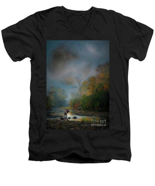 Woodland Elk Men's V-Neck T-Shirt