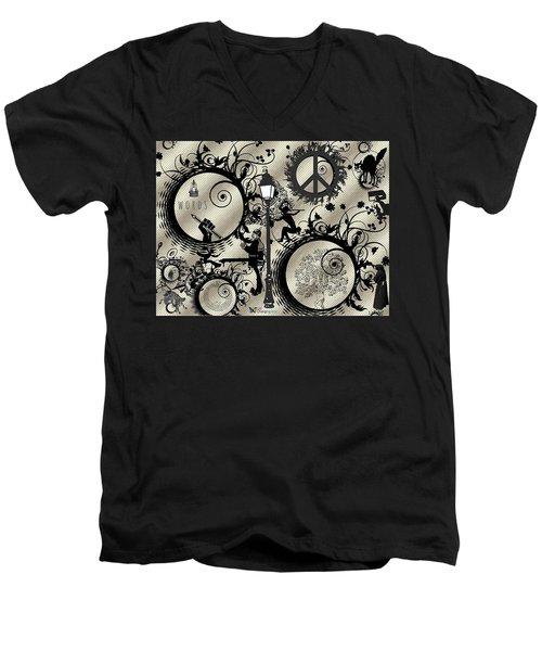 Words Pale Men's V-Neck T-Shirt
