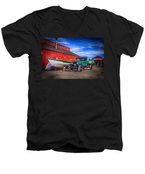 Work Truck, Mystic Seaport Museum Men's V-Neck T-Shirt