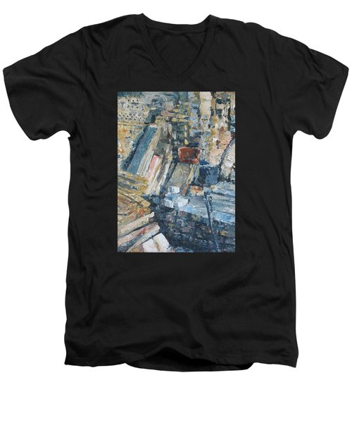 Working To Abstraction Men's V-Neck T-Shirt